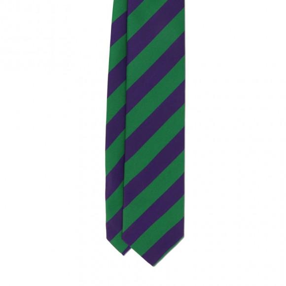 Cravate Club Vert Violet