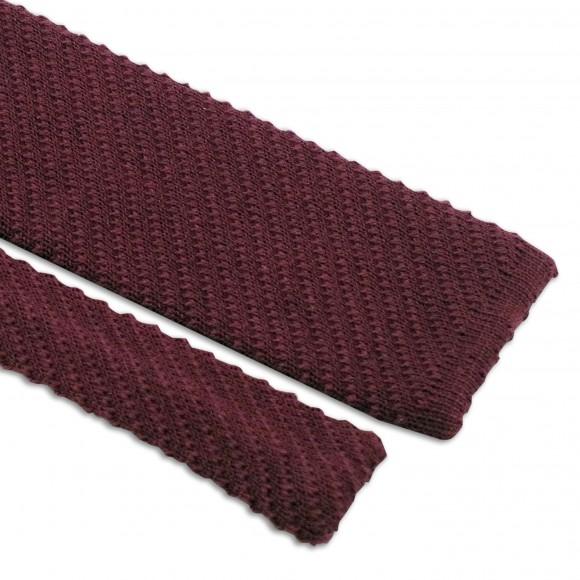 Cravate Bordeaux Tricot