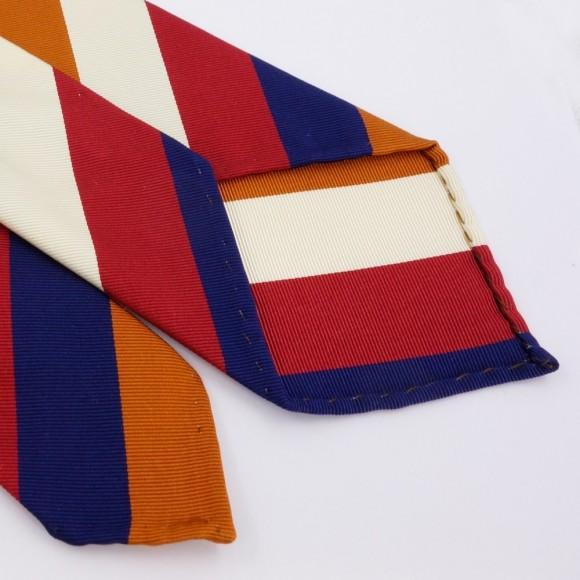 Cravate club tricolore