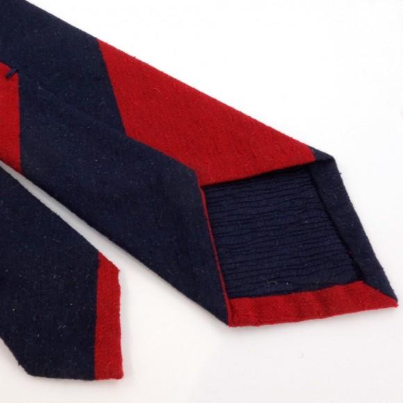 Cravate club rouge et marine