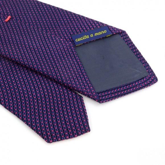 Cravate faux-uni bleu et rose