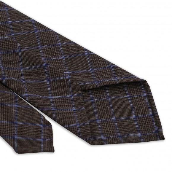 Cravate Marron Rayures Bleu Luxe
