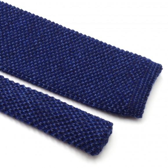 Cravate Tricot Mix Bleu
