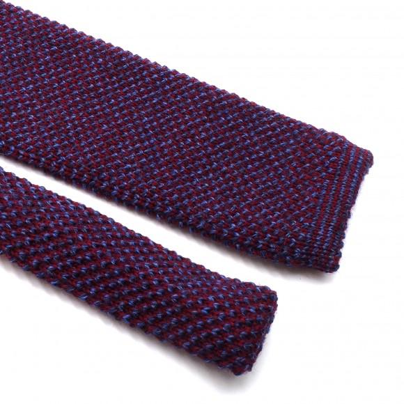 Cravate Tricot Mix Pourpre