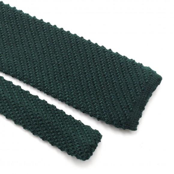 Cravate Tricot Laine Verte