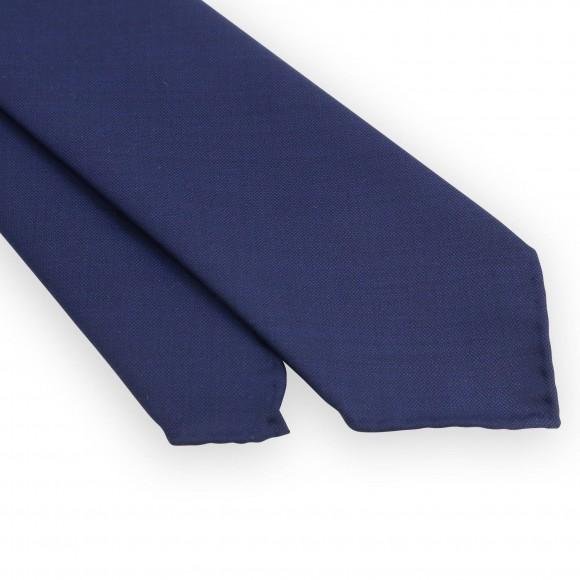 Cravate 3 plis marine