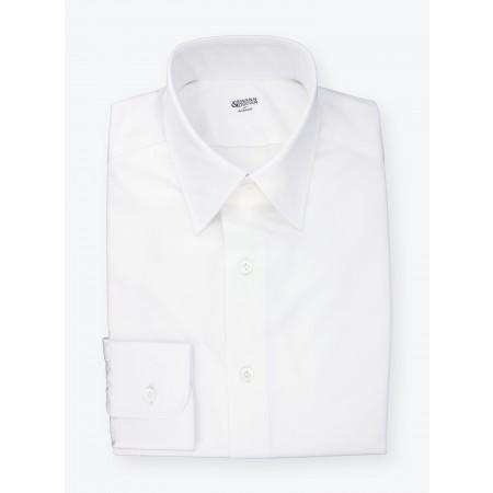 Chemise Twill Uni Blanc