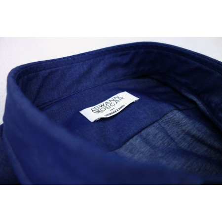 Chemise Denim Uni Bleu