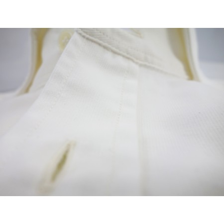 Chemise Velour Uni Blanc cassé
