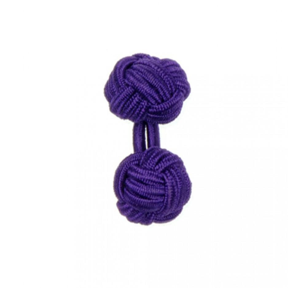 Boutons Manchette en Passementerie Purple