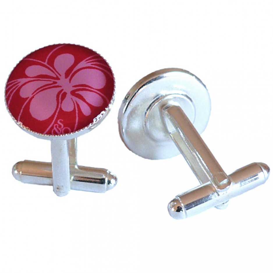 Boutons Manchette Bloom Rouge