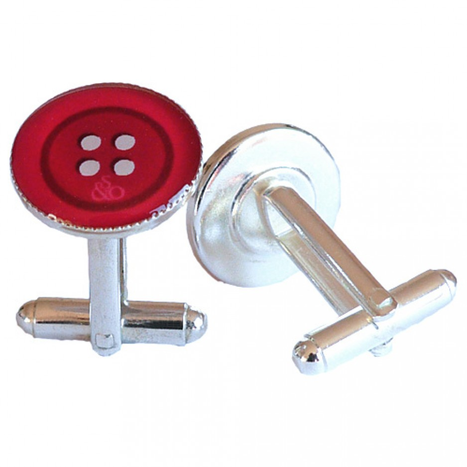 Boutons Manchette Rouge