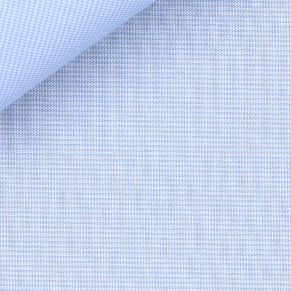 Oxford Carreaux Bleu (repassage facile)