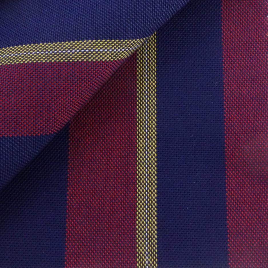 Oxford Rayé Bleu Bordeaux