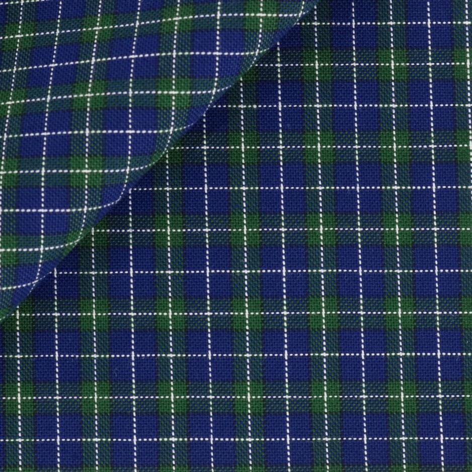 Oxford Carreaux Bleu Vert