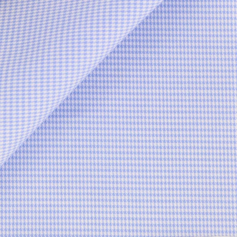 Twill Pied de Poule Bleu
