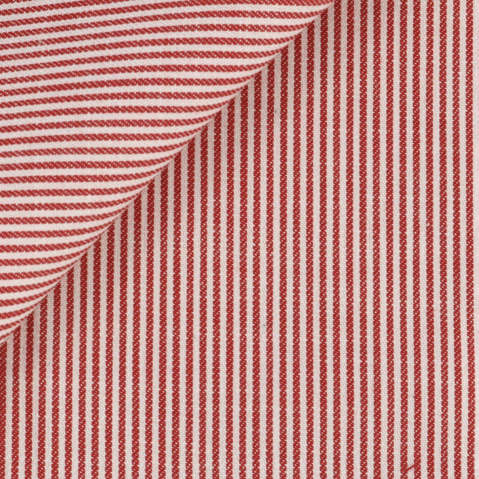 Twill Rayé Rouge