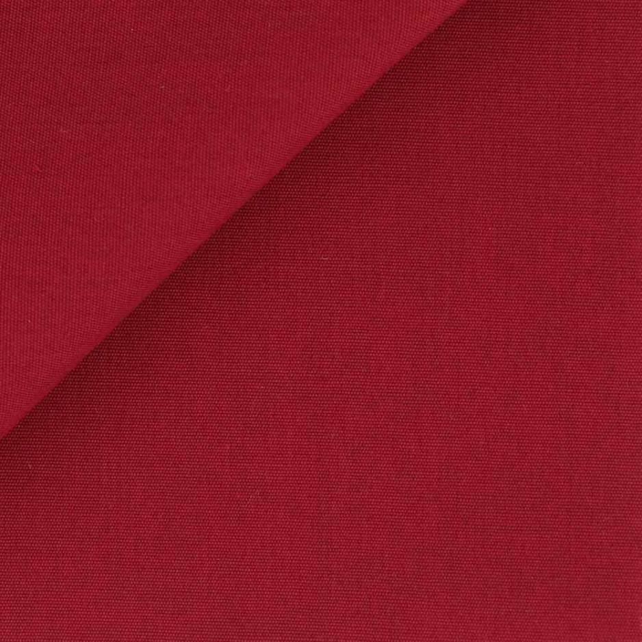 Popeline Uni Rouge