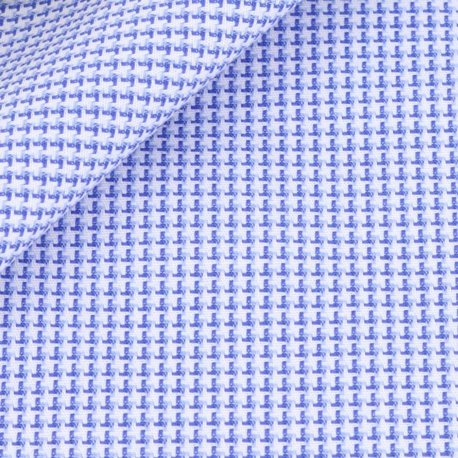 Pied de Poule Uni Bleu