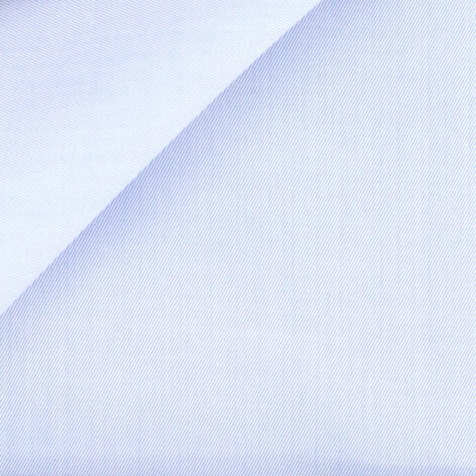Twill Uni Bleu (repassage facile)