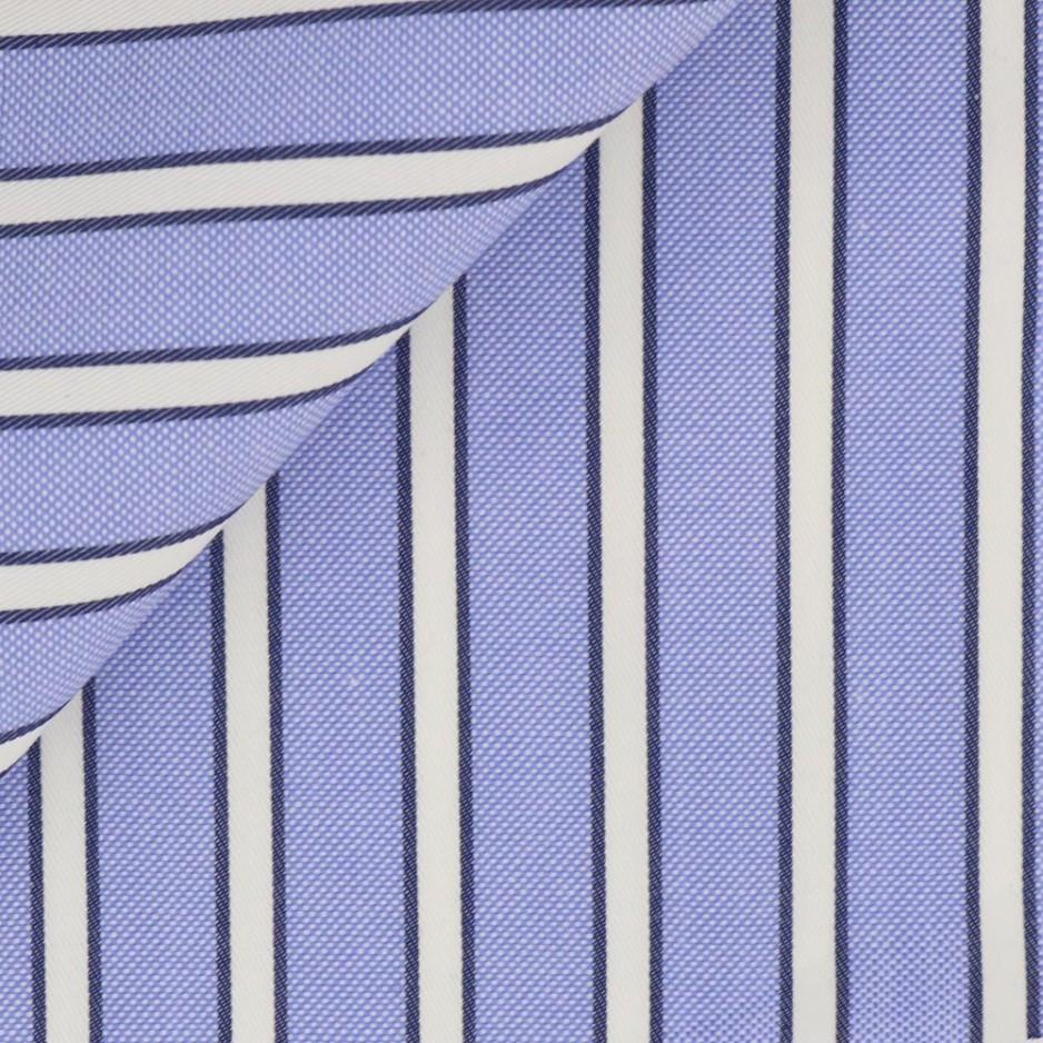 Oxford Rayé Bleu