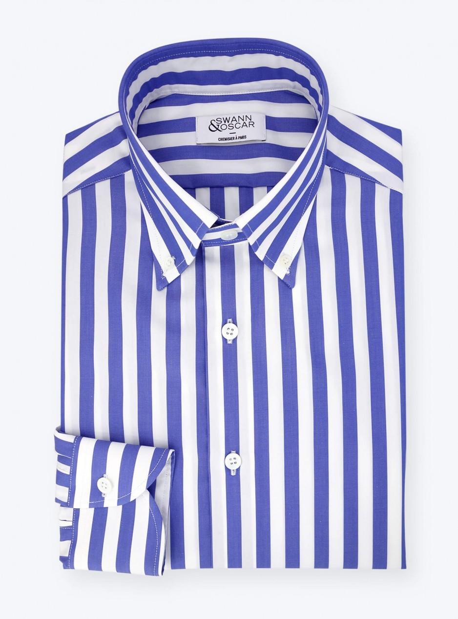 Chemise Butcher Stripes Bleu
