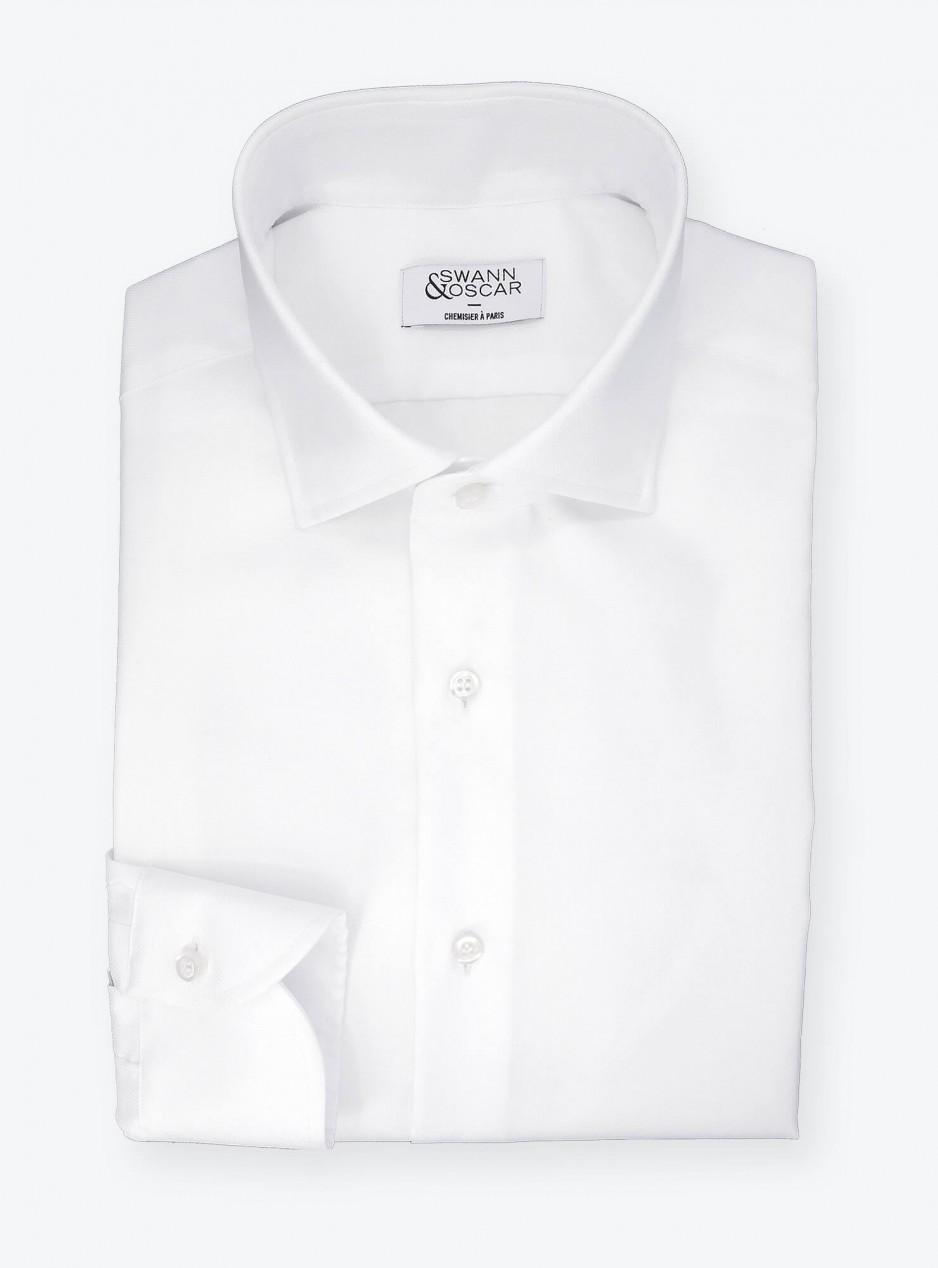 Chemise Oxford Uni Blanc (repassage facile)