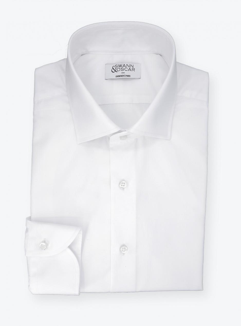 Chemise Popeline Uni Blanc (repassage facile)
