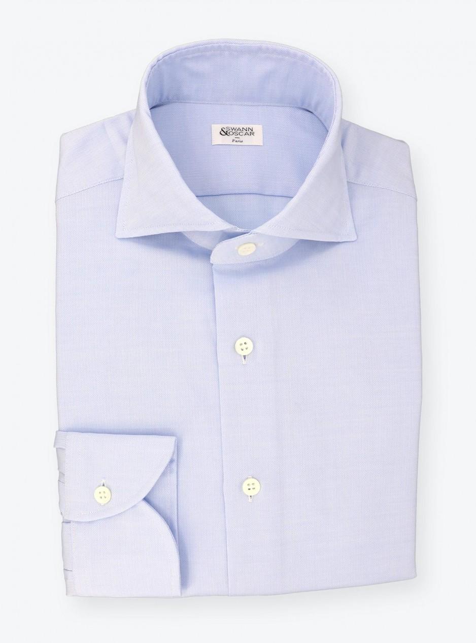 Chemise Voile d'Oxford Uni Bleu