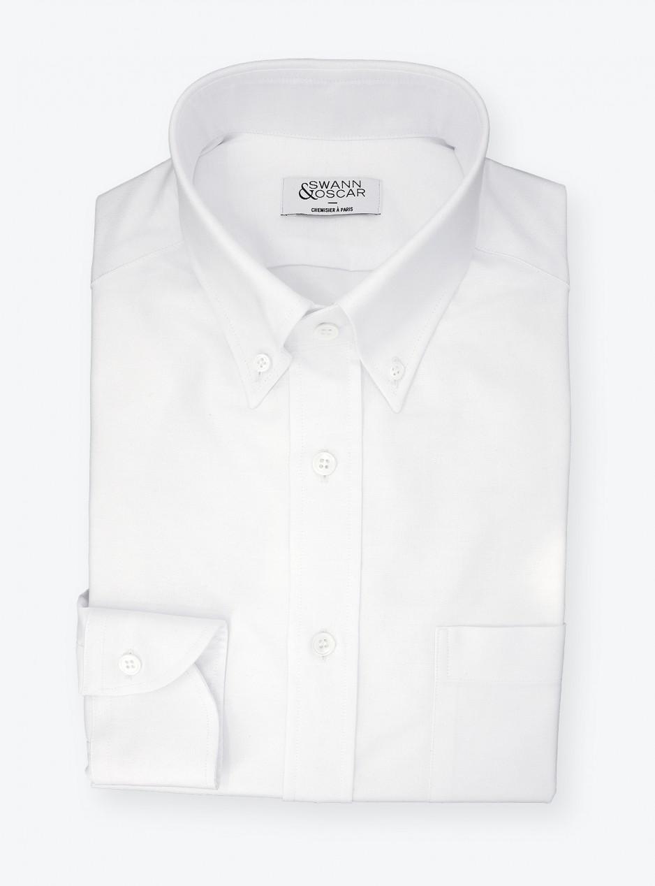 Chemise Oxford Uni Blanc
