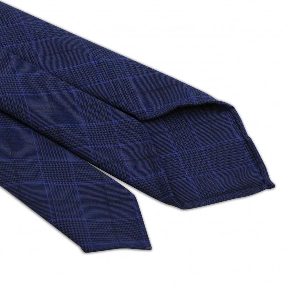 Cravate Bleue Rayures Luxe