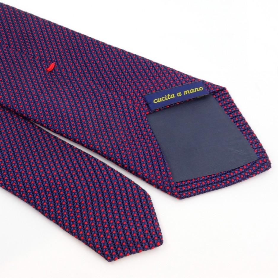 Cravate faux-uni bleu et rouge