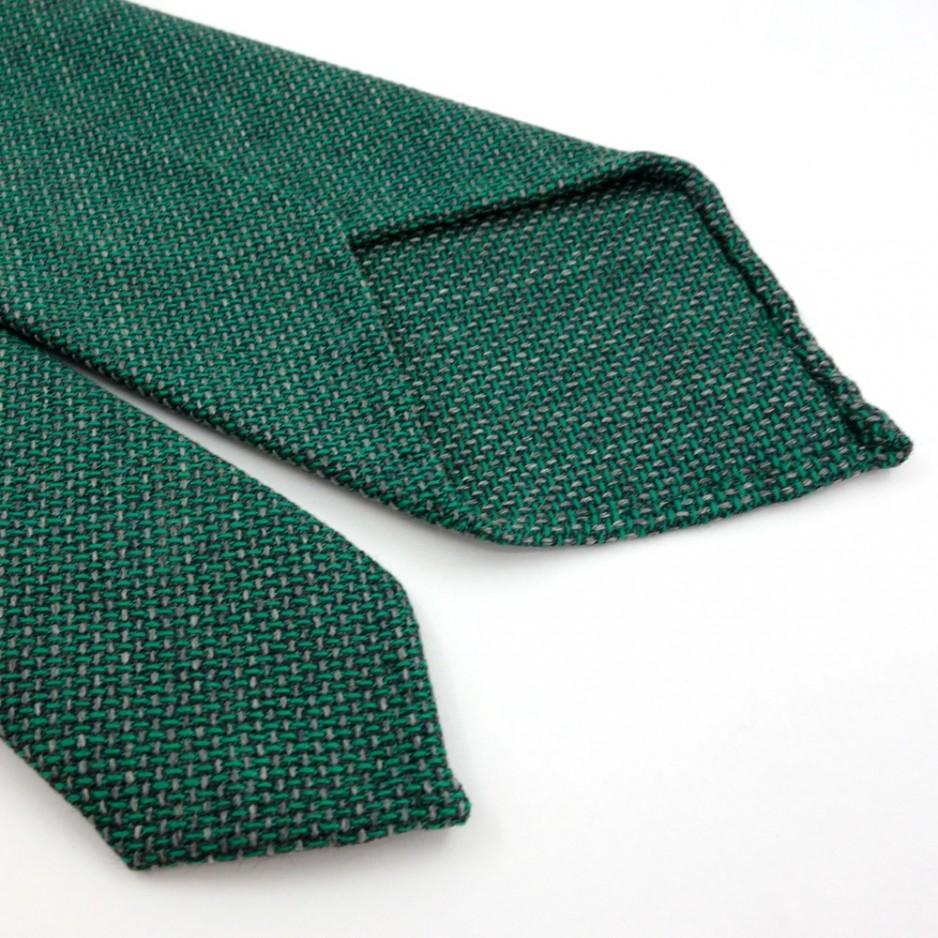Cravate en laine faux-uni vert clair