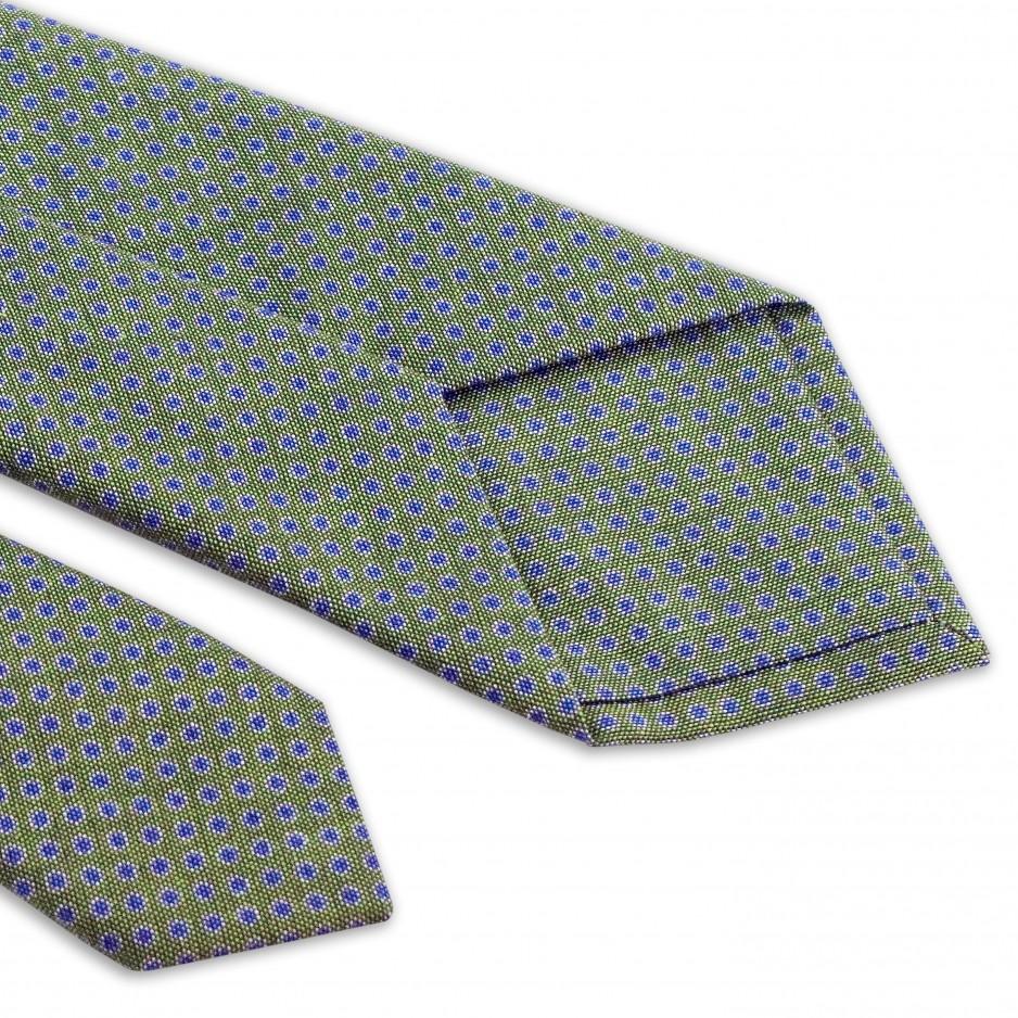 Cravate Verte Points Bleu