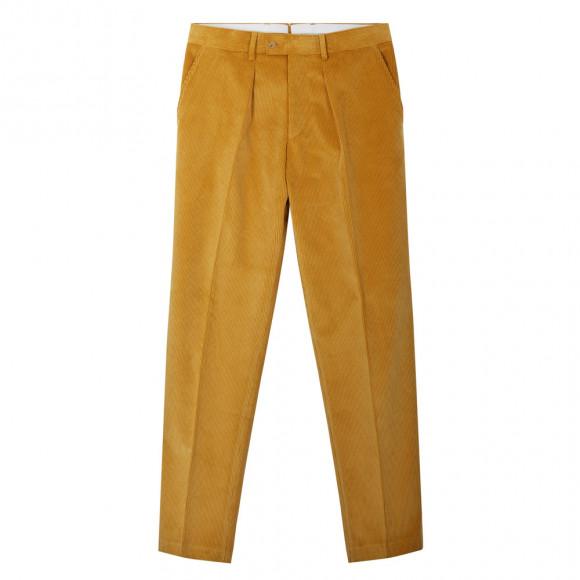 Pantalon velours cotelé gold