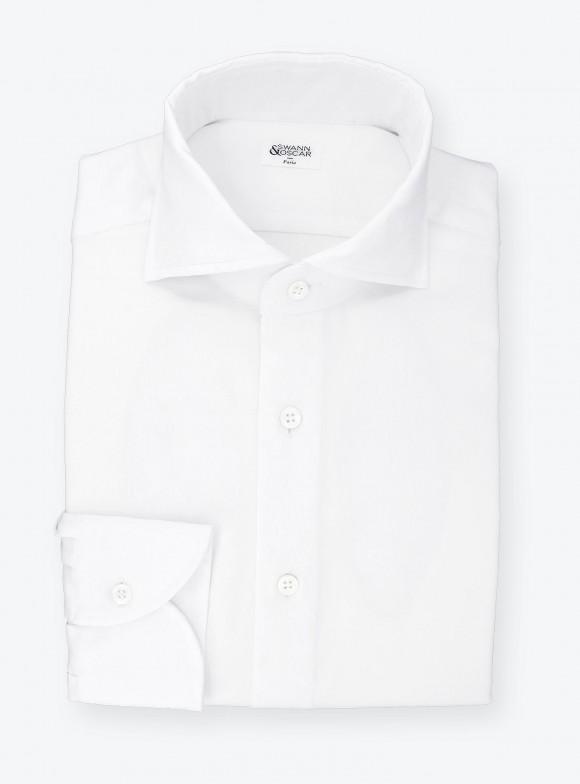 Chemise Voile d'Oxford Uni Blanc