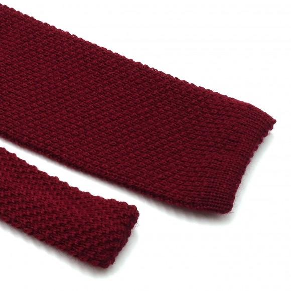 Cravate Bordeaux Fina Grenadine Knit