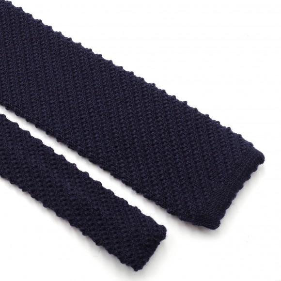 Cravate Tricot Laine Bleue