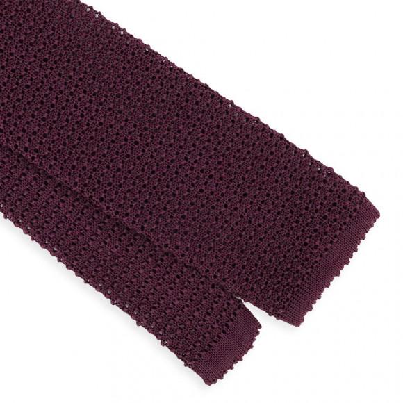 Cravate Tricot Prune