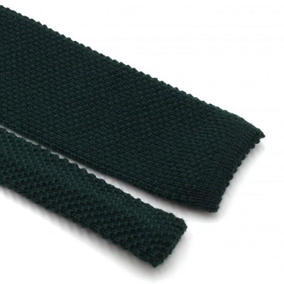 Cravate Verte Fina Grenadine Knit