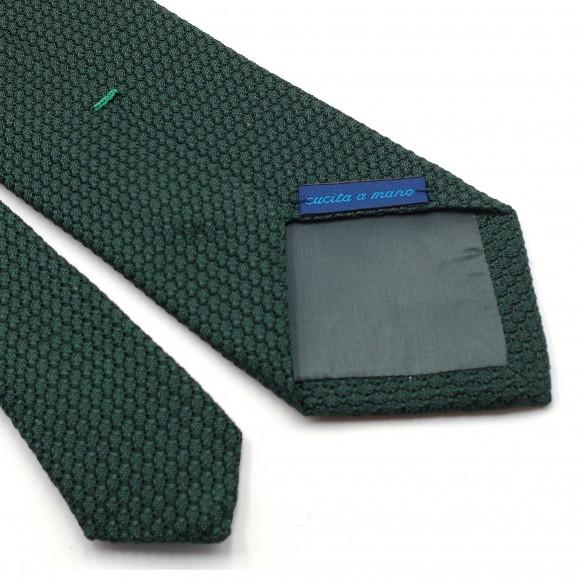 Cravate Verte Grenadine de Soie « Garza Grossa»