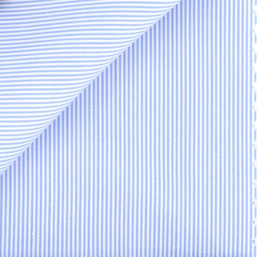 Twill Rayé Bleu (repassage facile)