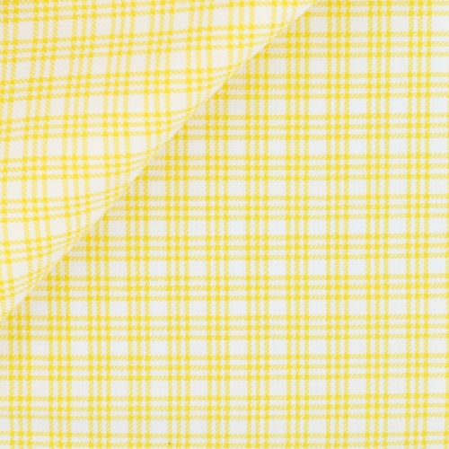 Twill Carreaux Jaune