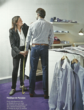 Article Juliette & Victor - L'élégance des chemises Swann
