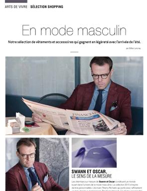 Article Décideurs - En mode masculine