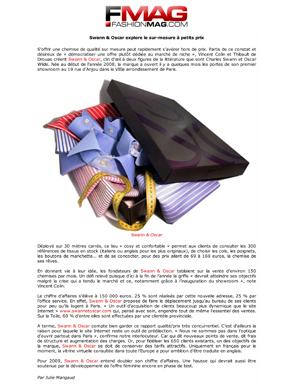 Magazine FashionMag.Com - Chemises Paris