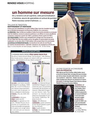 Magazine Figaro Madame - Chemises pour homme