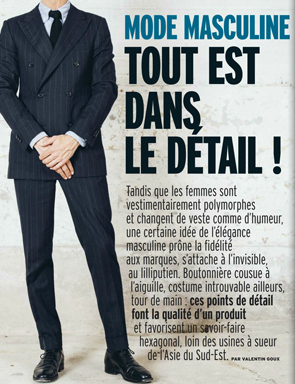 Article Marianne - Mode Masculine - Tout est dans le détail.