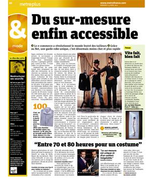Magazine Metro - le sur mesure