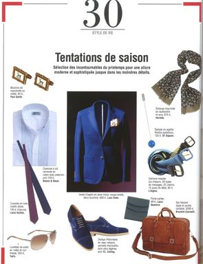 Magazine Monsieur - Chemise Col Inversé